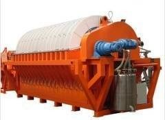 Iron Ore Slurry Rotary Disc Filter , Vacuum Filtration System Energy Saving